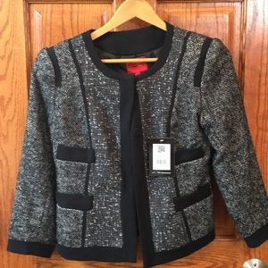 Narcisco Rodriguez black tweed blazer NWT- sz XS